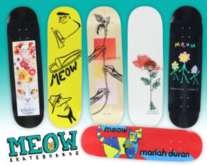 cf2042a17a1 New Decks   Headwear From Meow Skateboards